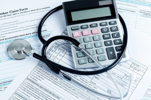 Healthcare medical billing and finances concept
